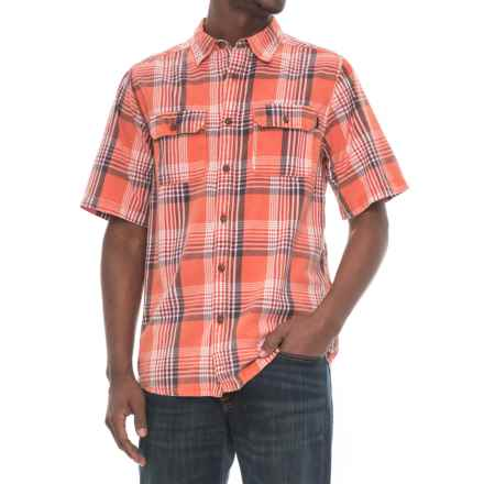 Kavu Double-Pocket Plaid Shirt - Short Sleeve (For Men) in Coastal Bottlerocket - Closeouts