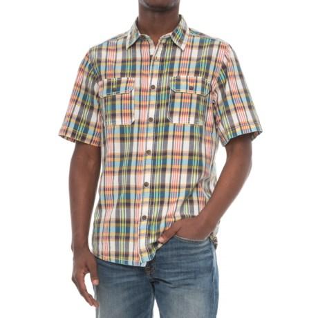 Kavu Double-Pocket Plaid Shirt - Short Sleeve (For Men) in Coastal Fiesta