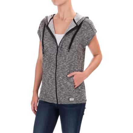 Kavu Downtime Hoodie - Sleeveless (For Women) in Smoke - Closeouts