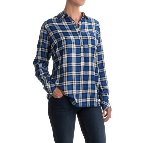 Kavu Easton Oversized Shirt - Button Neck, Long Sleeve (For Women) in Shores