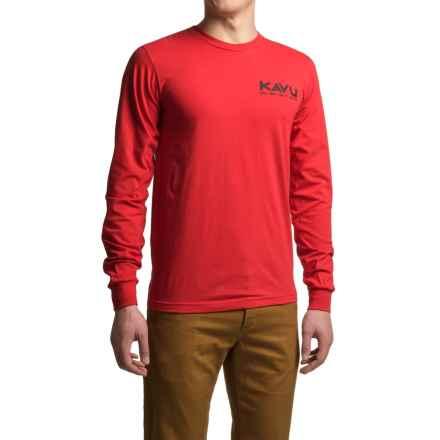 Kavu Fish On T-Shirt - Long Sleeve (For Men) in Red - Closeouts