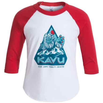 Kavu Fly Ball Jr. T-Shirt - Long Sleeve (For Little and Big Kids) in Red - Closeouts