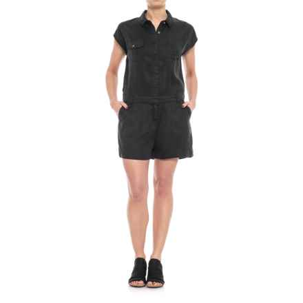 Kavu Freeland Romper - TENCEL®, Sleeveless (For Women) in Black - Closeouts