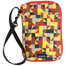 Kavu Funster Wallet - Detachable Strap in Desert Quilt - Closeouts
