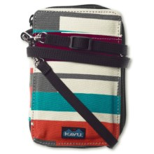 Kavu Funster Wallet - Detachable Strap in Pixel Dash - Closeouts