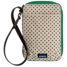 Kavu Funster Wallet - Detachable Strap in Urban Dots - Closeouts