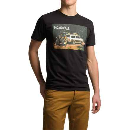Kavu Get Dirty T-Shirt - Short Sleeve (For Men) in Black - Closeouts