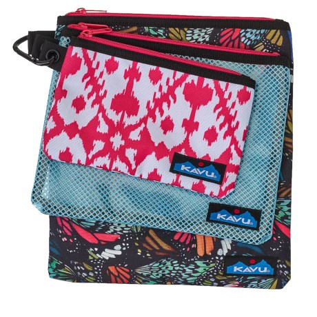 Kavu Goodie Pouches - Set of 3 (For Women) in Flutterfly