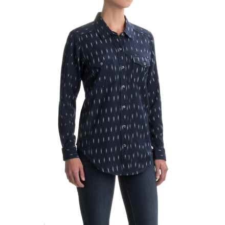 Kavu Hadley Shirt - Long Sleeve (For Women) in Navy - Closeouts