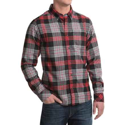 Kavu Huck Flannel Shirt - UPF 30+, Long Sleeve (For Men) in Blaze - Closeouts