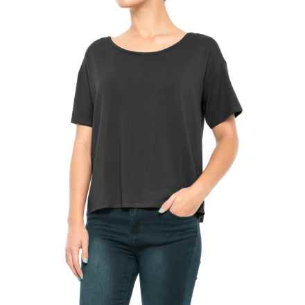 Kavu Islander Shirt - Short Sleeve (For Women) in Black - Closeouts
