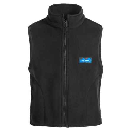 Kavu Kiddo Fleece Vest - Full Zip (For Big Kids) in Black - Closeouts