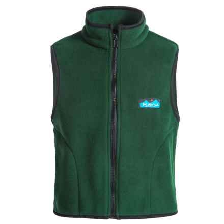 Kavu Kiddo Fleece Vest - Full Zip (For Big Kids) in Pine - Closeouts