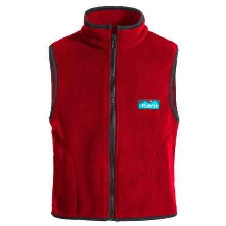 Kavu Kiddo Fleece Vest - Full Zip (For Big Kids) in Red - Closeouts