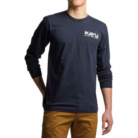 Kavu Klear Night T-Shirt - Long Sleeve (For Men) in Navy - Closeouts