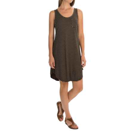 Kavu Leonora Dress - Scoop Neck, Sleeveless (For Women) in Black N Tan - Closeouts