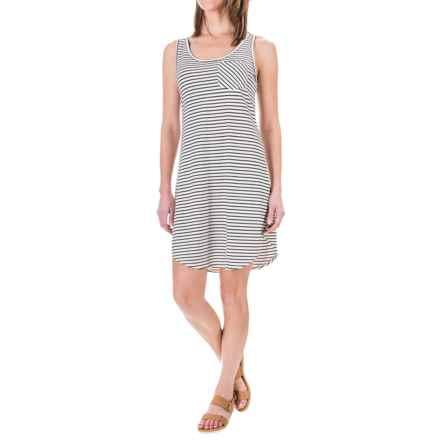 Kavu Leonora Dress - Scoop Neck, Sleeveless (For Women) in Bw Stripe - Closeouts