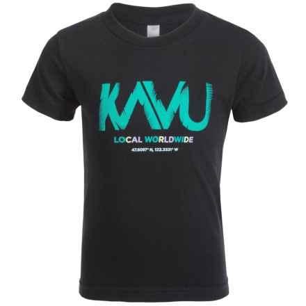 Kavu Little T T-Shirt - Short Sleeve (For Little and Big Kids) in Black - Closeouts