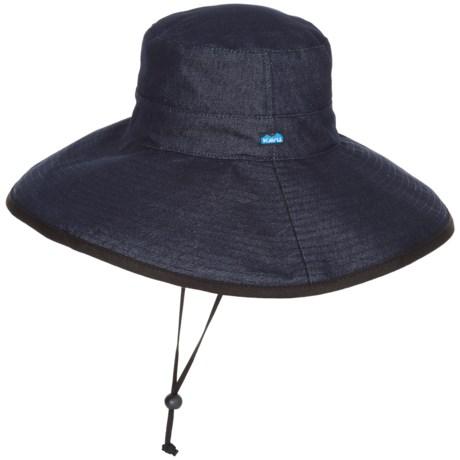 Kavu Long Brim Sun Hat (For Women) in Denim