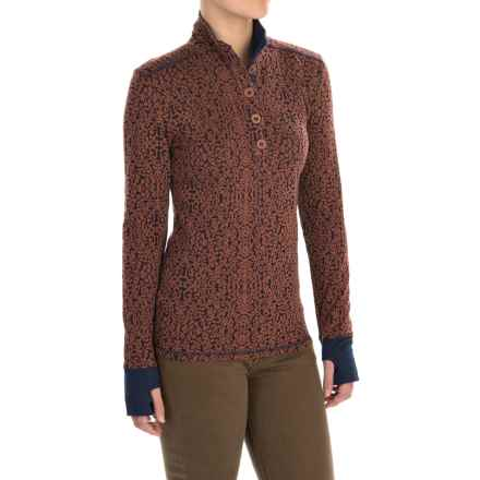 Kavu Lopez Pullover Shirt - Long Sleeve (For Women) in Terrain - Closeouts