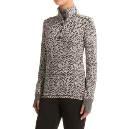 Kavu Lopez Shirt - Long Sleeve (For Women) in Black N White - Closeouts