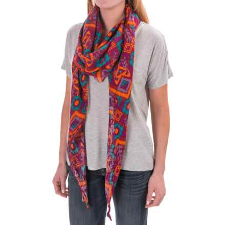 Kavu Lou Lou Scarf - Viscose (For Women) in Jewel Ikat - Closeouts