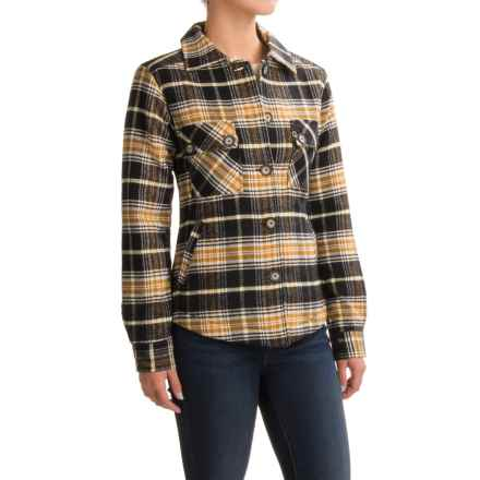 Kavu Lowlands Lined Flannel Shirt Jacket (For Women) in Black N Tan - Closeouts