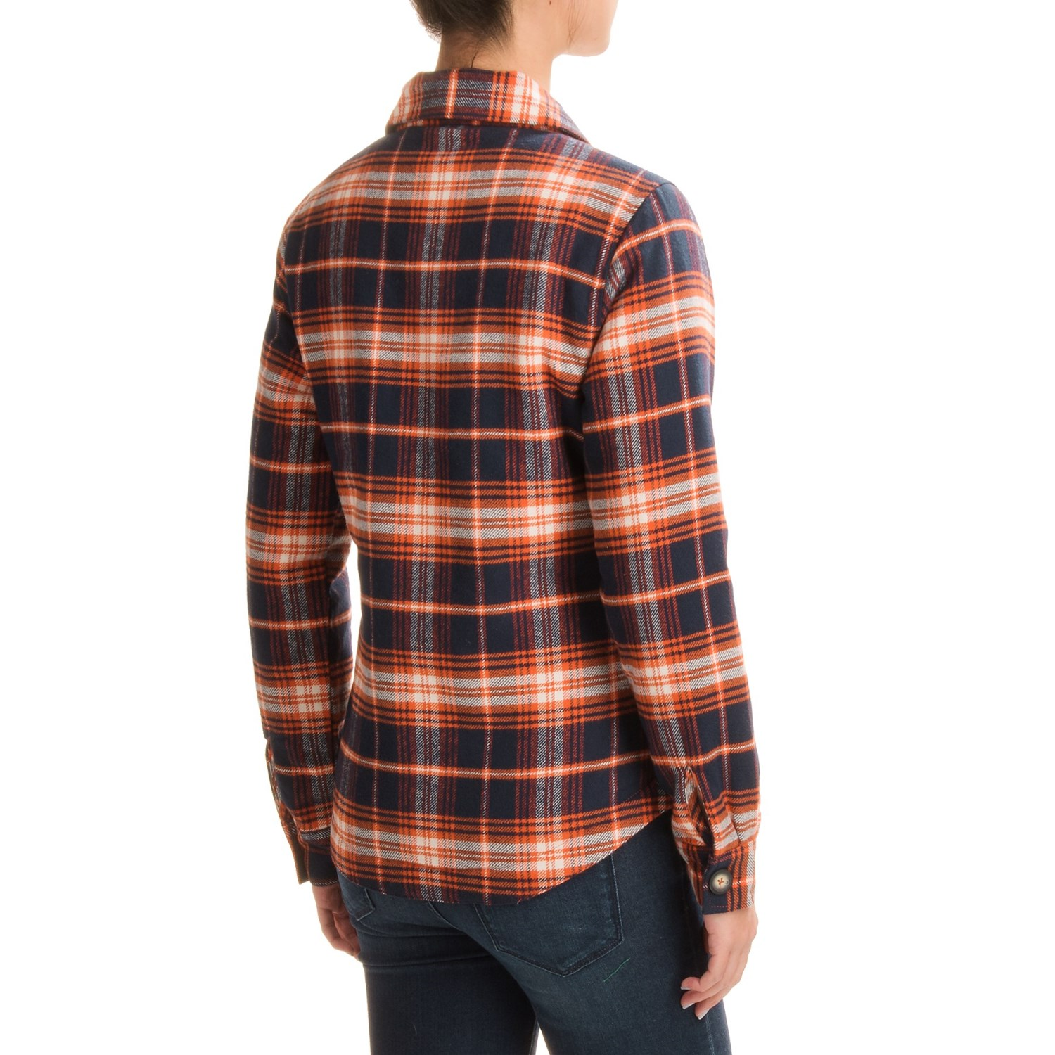 Kavu lowlands lined flannel shirt jacket for women for Flannel shirt and vest