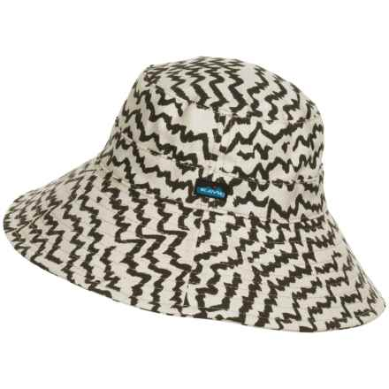 Kavu Mary Lou Sun Hat (For Women) in Natural Beats - Closeouts