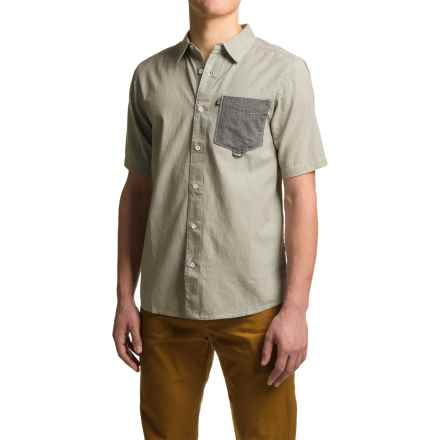 Kavu Melvin Shirt - Short Sleeve (For Men) in Grey - Closeouts