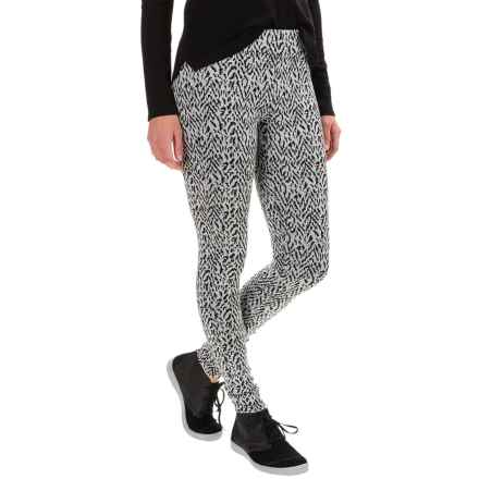 Kavu Mid Rise Ladies Leggings (For Women) in Black Smoke - Closeouts