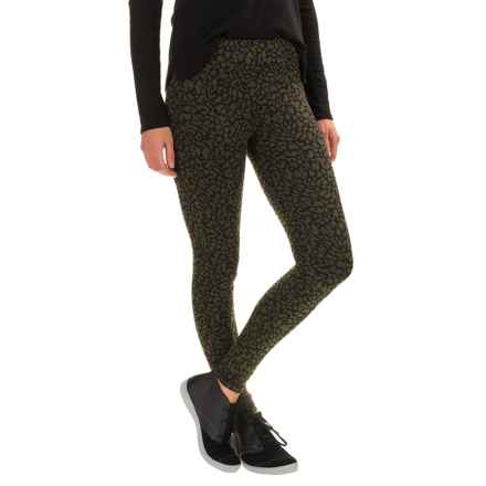 Kavu Mid Rise Ladies Leggings (For Women) in Military Green - Closeouts