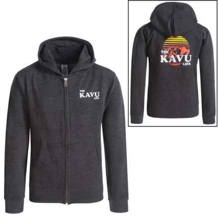 Kavu Mini Zip Hoodie (For Big Kids) in Charcoal - Closeouts