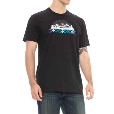 Kavu MTN Banner T-Shirt - Short Sleeve (For Men) in Black - Closeouts