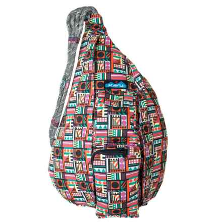 Kavu Original Cotton Canvas Rope Bag (For Women) in Geometry - Closeouts