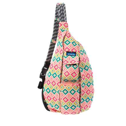 Kavu Original Cotton Canvas Rope Bag (For Women) in Spring Montage - Closeouts