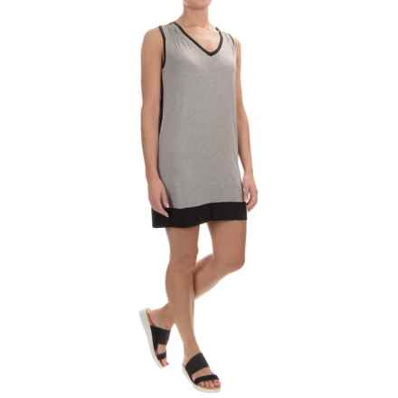 Kavu Pacific Coast Dress - V-Neck, Sleeveless (For Women) in Black Smoke - Closeouts