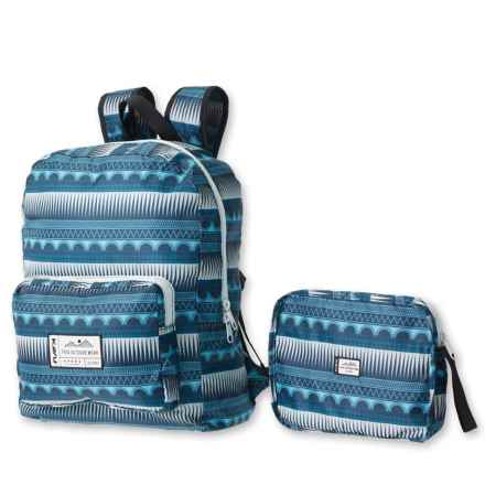 Kavu Packback Backpack (For Women) in Soundwave - Closeouts