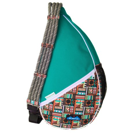 Kavu Paxton Canvas Sling Pack (For Women) in Geometry