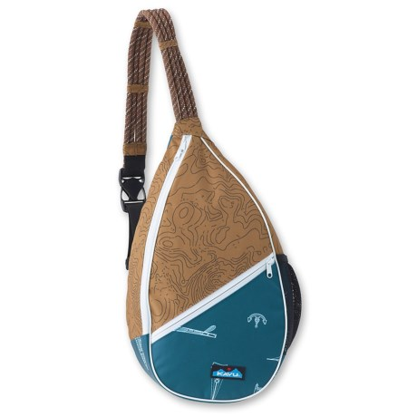 Kavu Paxton Canvas Sling Pack (For Women) in Maritime