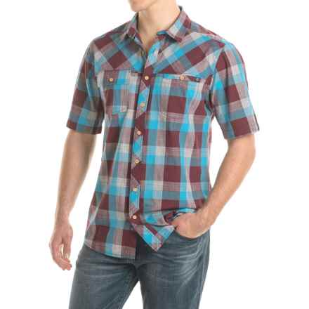 Kavu Pemberton Shirt - Short Sleeve (For Men) in Burgundy - Closeouts