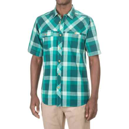 Kavu Pemberton Shirt - Short Sleeve (For Men) in Deep Teal - Closeouts