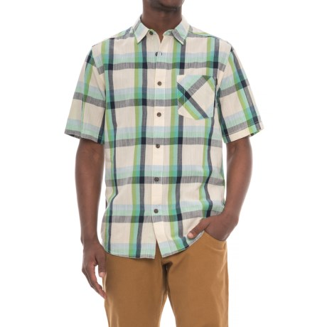 Kavu Plaid Button-Down Shirt - Short Sleeve (For Men) in Solstice Cloud