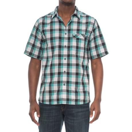 Kavu Plaid Single-Pocket Shirt - Short Sleeve (For Men) in Trustus Everglade