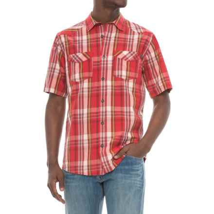 Kavu Plaid Two-Pocket Shirt - Short Sleeve (For Men) in Dundee Cardinal - Closeouts