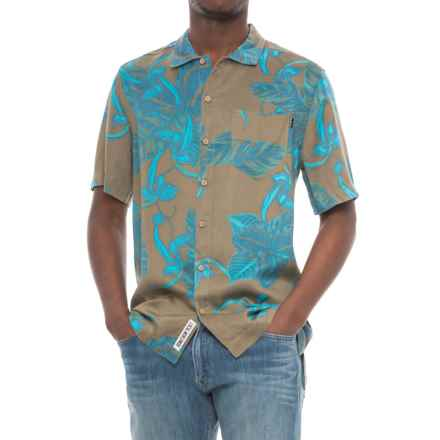 Kavu Printed Button-Down Shirt - Short Sleeve (For Men) in Keep It Classy Moss Palms - Closeouts