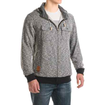 Kavu PTO Hoodie - Zip Front (For Men) in Black Smoke - Closeouts