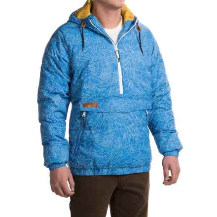 Kavu Puff N Stuff Jacket - Insulated, Zip Neck (For Men) in Blue Topo - Closeouts