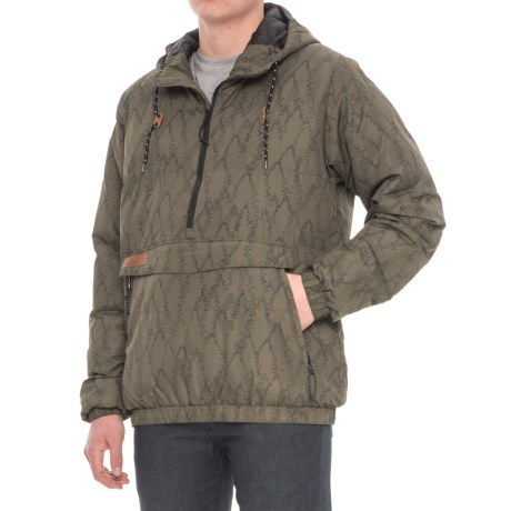 Kavu Puff N Stuff Jacket - Insulated, Zip Neck (For Men) in Trees Print