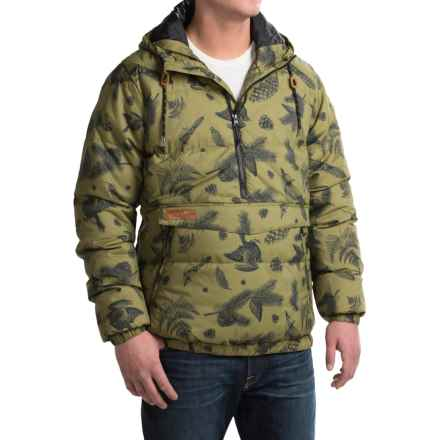 Kavu Puff N Stuff Pullover Jacket - Insulated, Zip Neck (For Men) in Timber - Closeouts